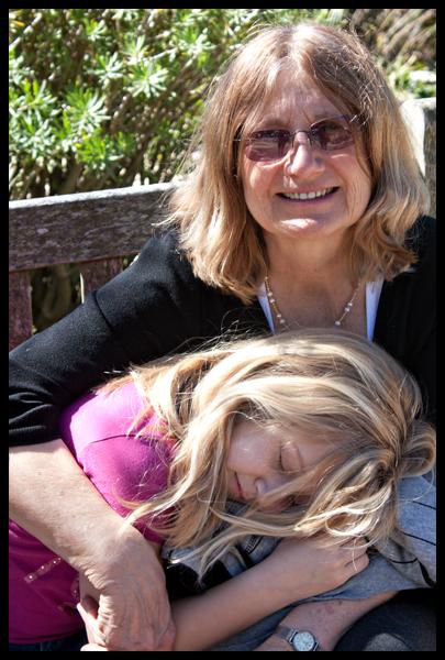 Audrey Sleeping on Oma