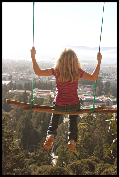 Audrey Swinging in the Berkeley Hills