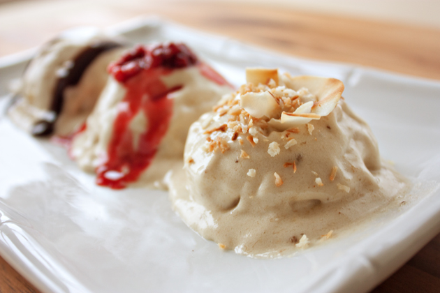 Toasted Coconut Banana Vegan Ice Cream