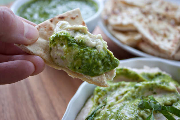 Pesto Hummus Pita Chip
