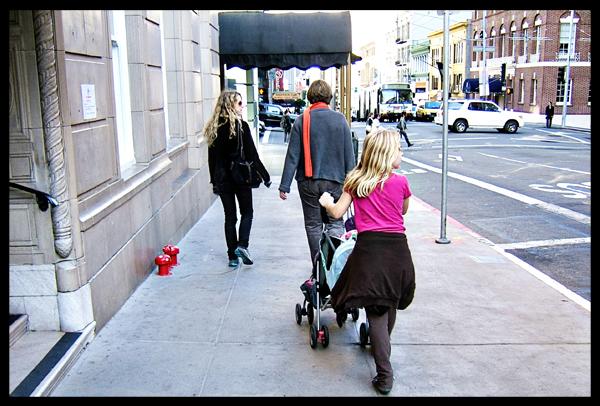 Walking down Sutter Street San Francisco