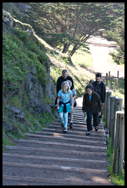 Walking Up Steps Lands End