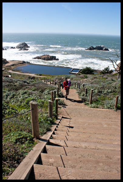 Zack Climbing Sutro Baths Steps