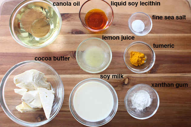 Palm Oil Free Butter Ingredients