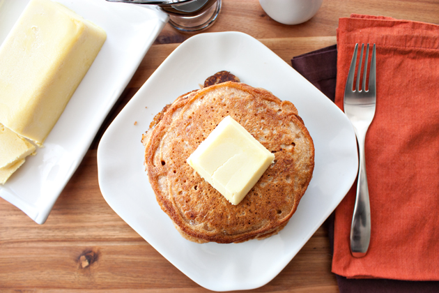 Vegan Pancakes with Palm Oil Free Butter