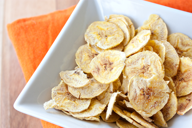 Microwaved Plantain Chips