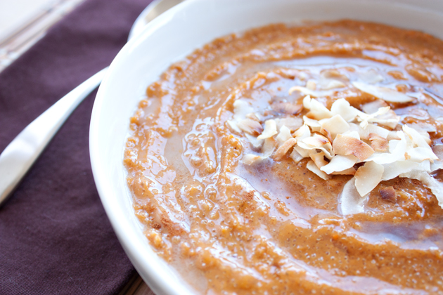 Roasted Sweet Potato Banana Amaranth Porridge