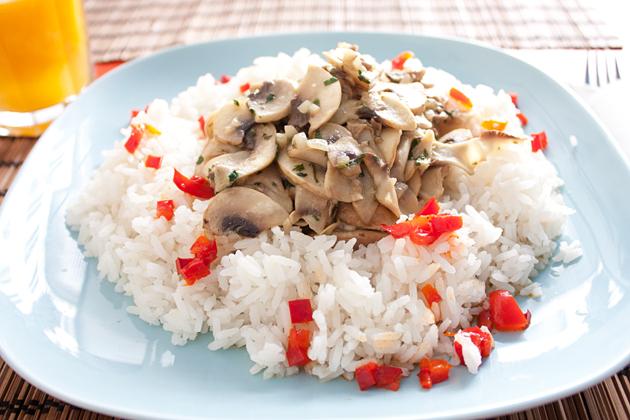 Vegan Portuguese Seafood Mushroom Dish