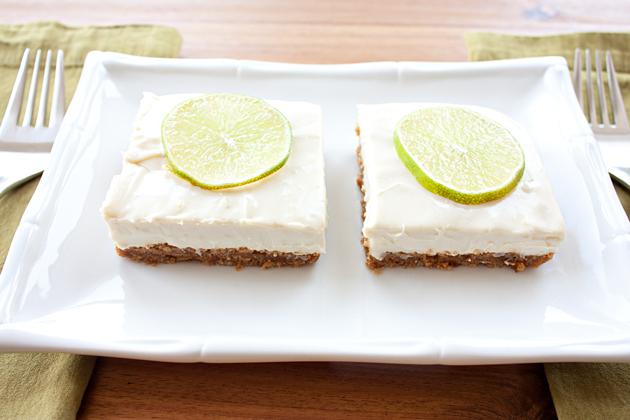 Vegan Cheesecake Lime Bars