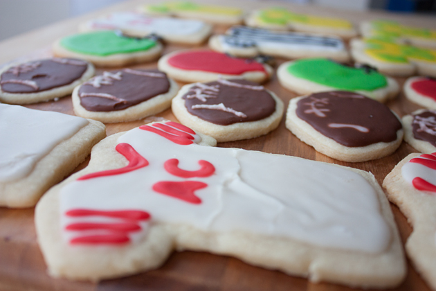 Football Jersey Cut Out Sugar Cookies