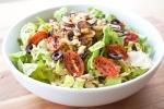 Sauteed Hearts of Palm, Grape Tomato, and Kalamata Olive Salad with Sun Dried Tomato Dressing