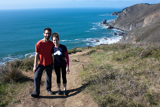 Me and Alex on Coastal Trail Hike