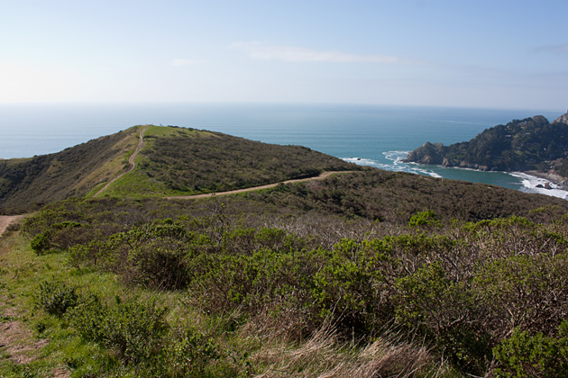 Hiking Coastal Fire Trail Overlooking Muir Beach