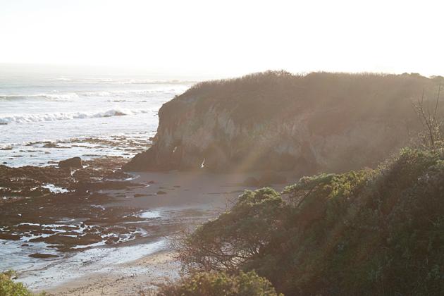 Caves through the cliffs